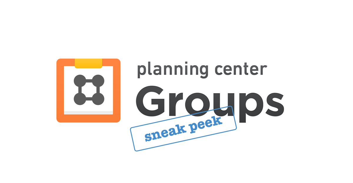 Planning Center Groups