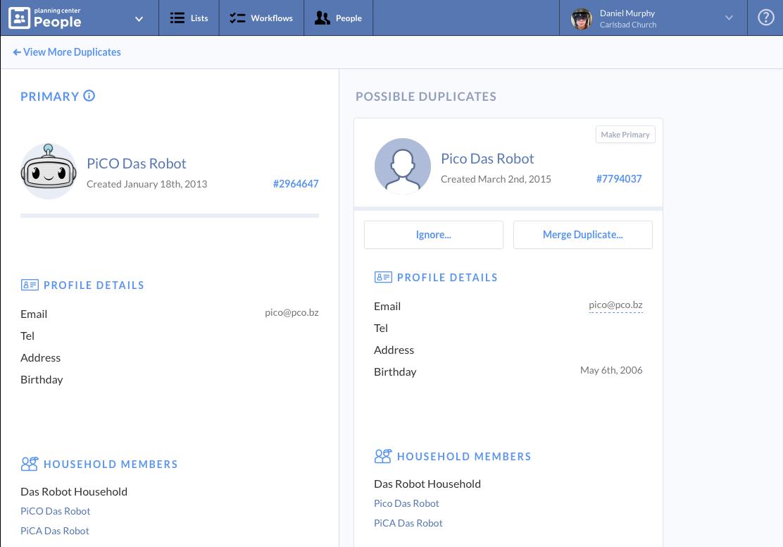 Announcing Duplicate Detection | Planning Center