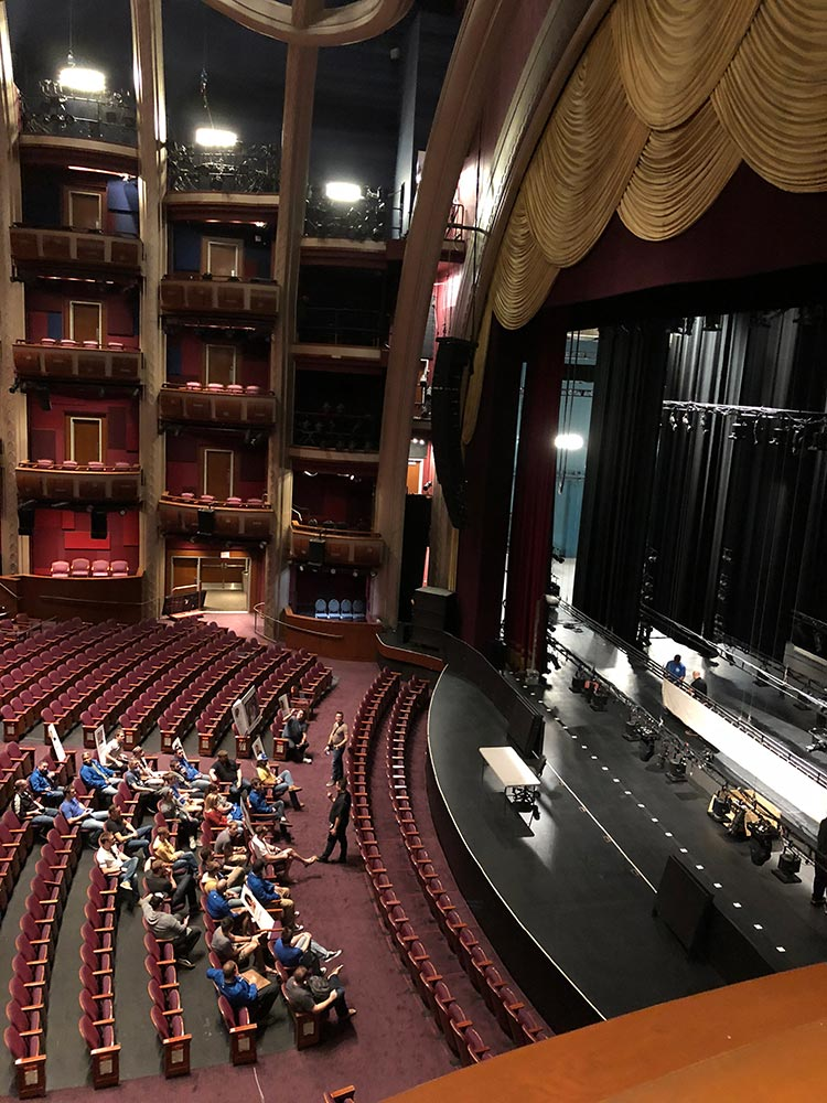 Backstage tour at the Dolby Theatre