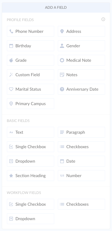 Add Field UI