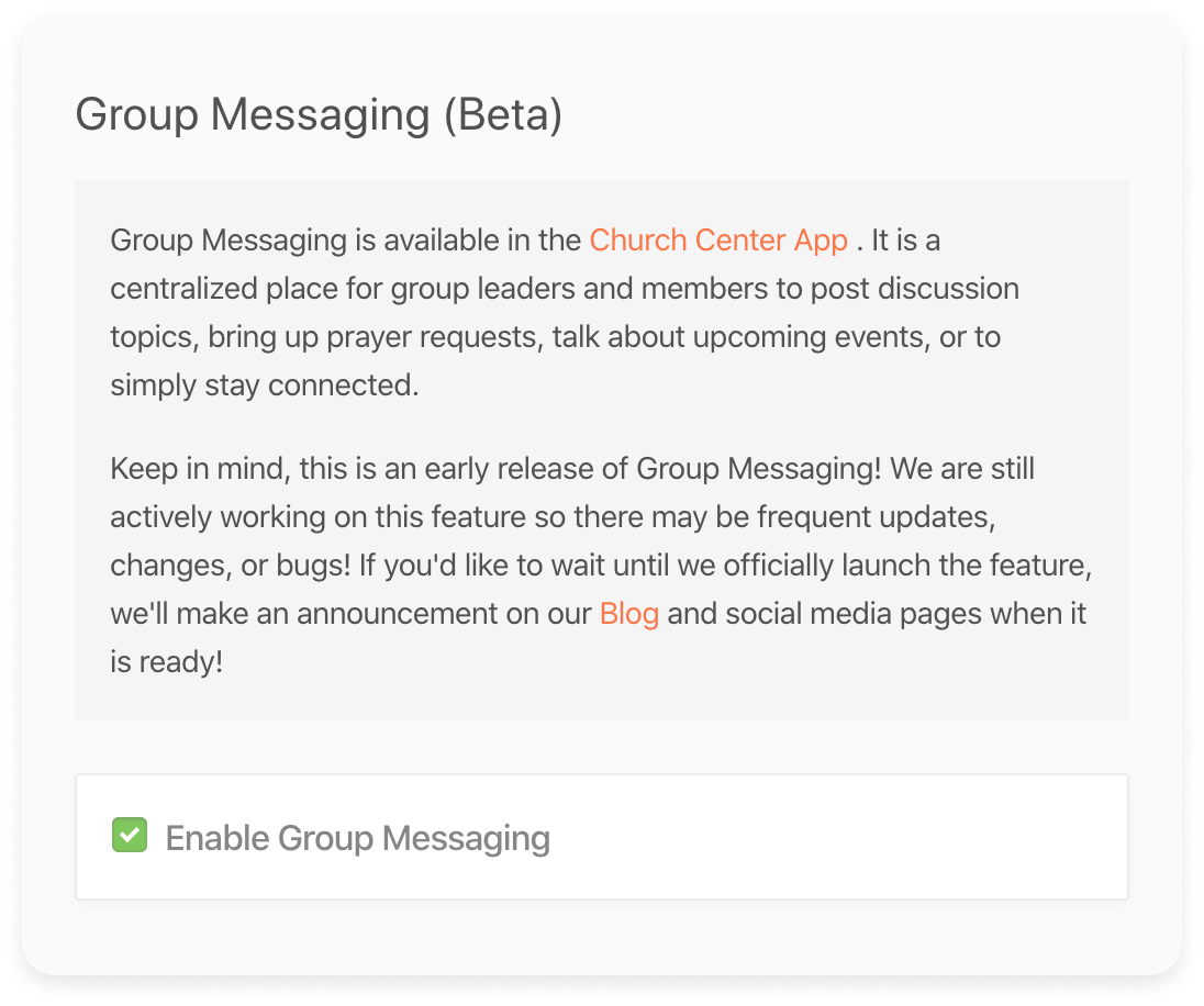 Groups Messaging