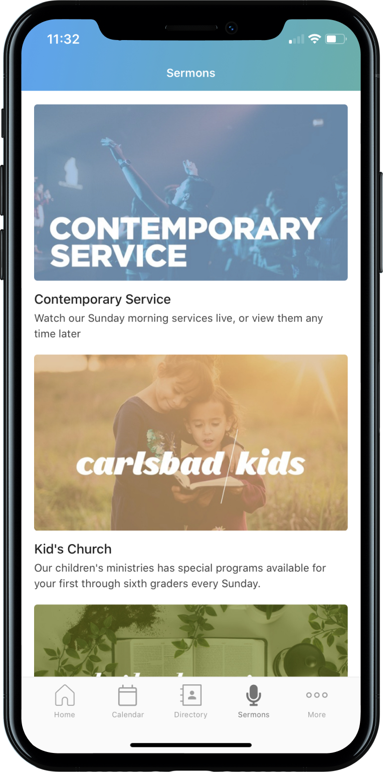 Sermons Mobile Layout