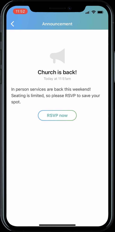 Church Center Notifications