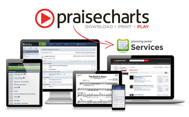 PraiseCharts and Planning Center